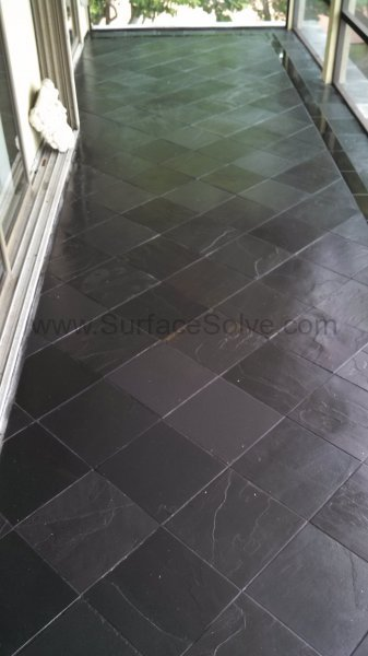 Cleaning and sealing slate